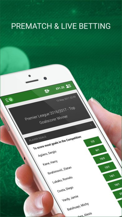 Unibet Sport Applicatie